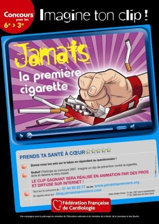 Affiche Collège - Jamais la première cigarette