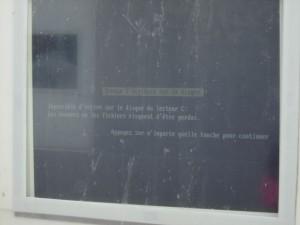 Un écran bleu de la mort à Paris