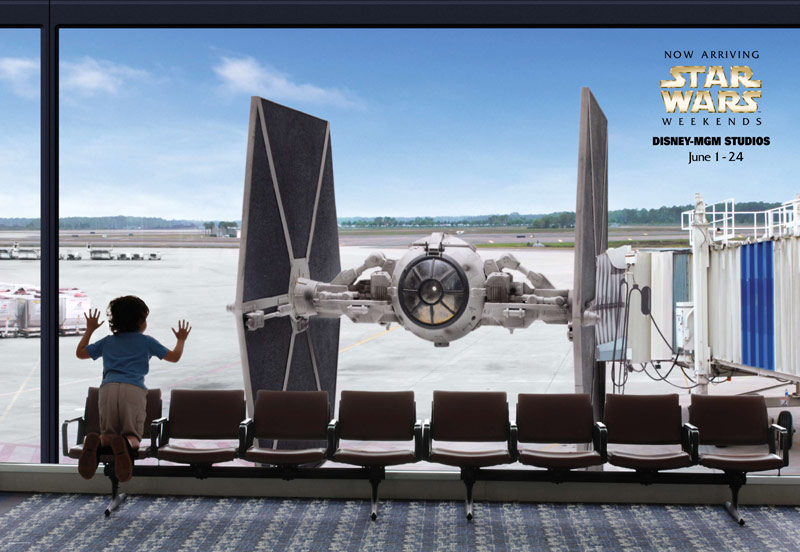 Une affiche des Weekends Star Wars à Disney World